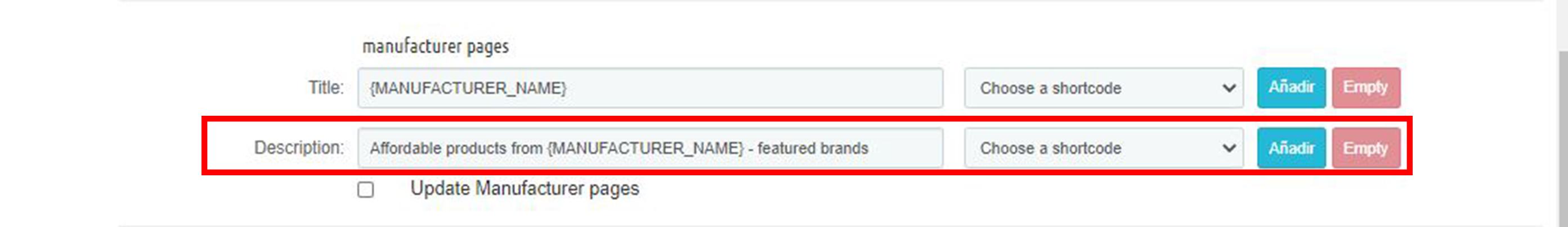 Marcas y proveedores Meta descripcion