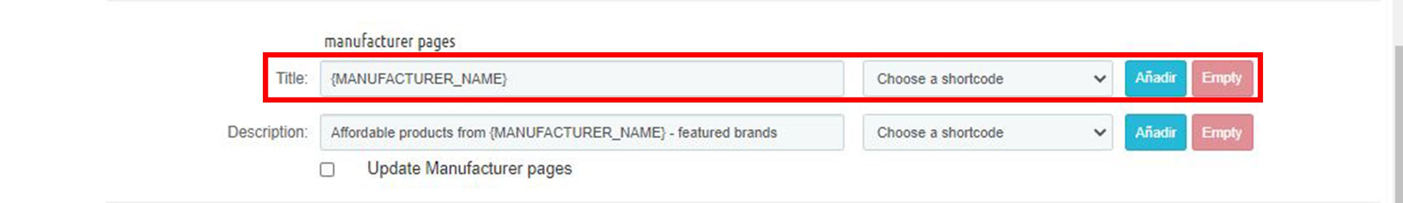 Marcas y proveedores Meta titulo